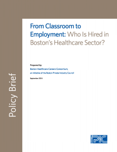 cover of From Classroom to Employment:Who Is Hired in Boston's Healthcare Sector?